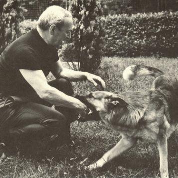Oscar di Prata - 1972 - Con il cane Yol